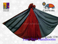Handloom Cotton Saree - 1238 - Gray, Black & Burgundy
