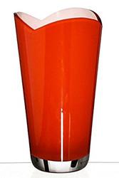 Hand Blown Classic Glass Vase 26cm, Orange
