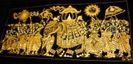 Kandy Esala Perehera on Velvet - Gold