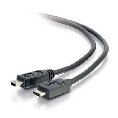 3ft USB 2.0 USB-C to USB Mini-B Cable M/M - Black (28854)