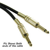 1.5ft 1/4in Male to 1/4in Male Pro-Audio Cable