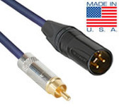 1.5ft Pro Series XLR Male to RCA Cable with Gold Contacts