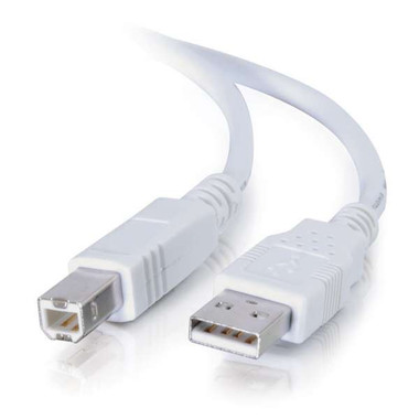 2m USB 2.0 A/B Cable - White (6.6ft)