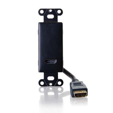 HDMI Pass Through Decora Style Wall Plate - Black