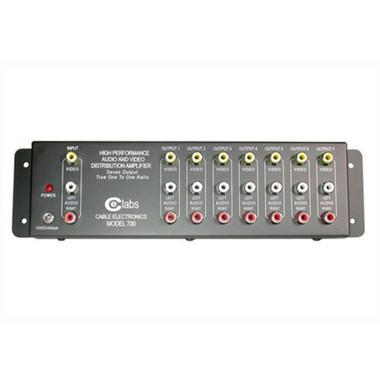 7-Output RCA Audio/Video Distribution Amplifier (41067)