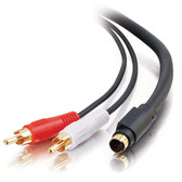 6ft S-Video + RCA Stereo Audio Cable (02309)