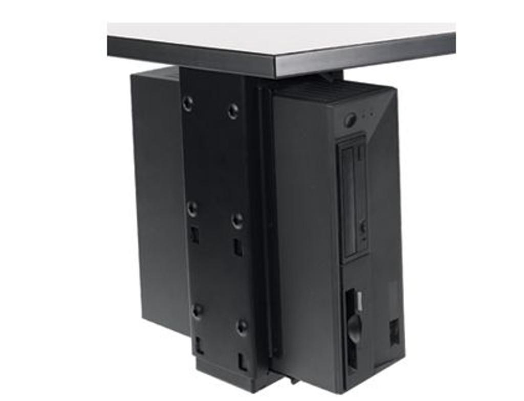 Under Desk CPU Holder with Slide and Swivel
