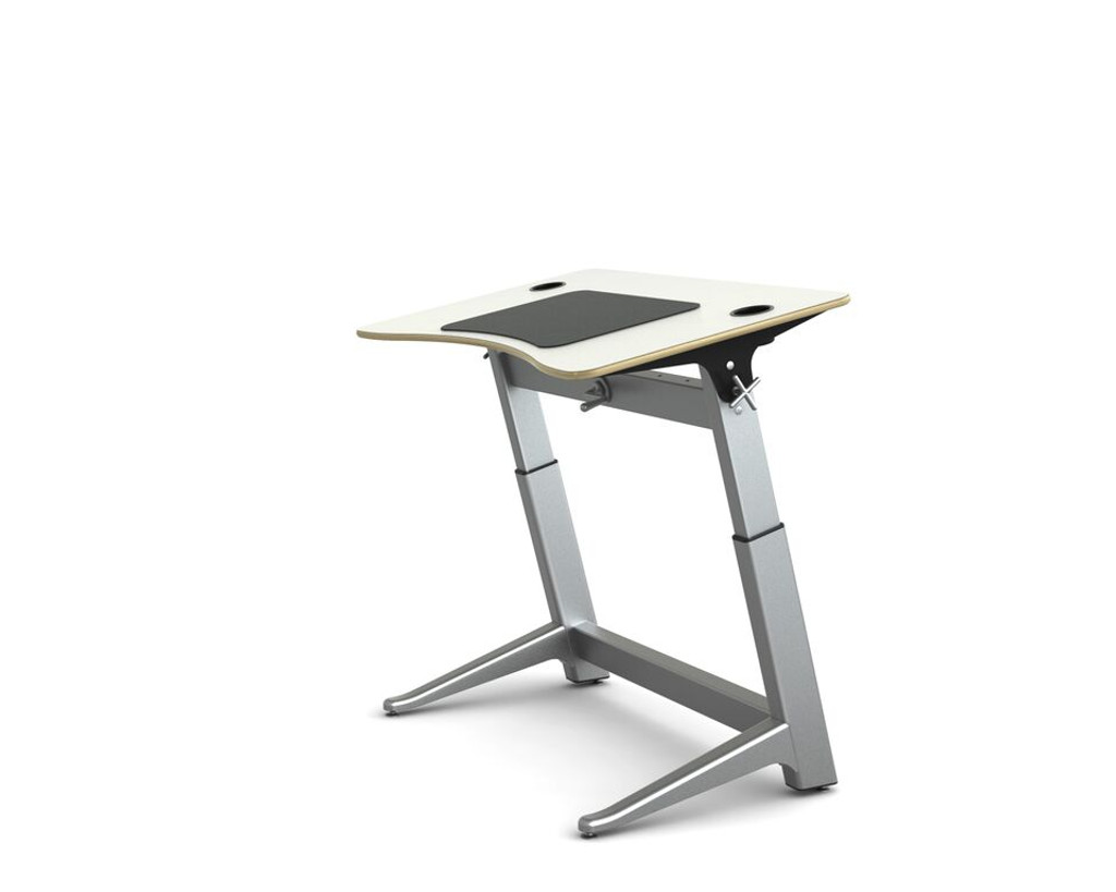 Locus Standing Desk white laminate top