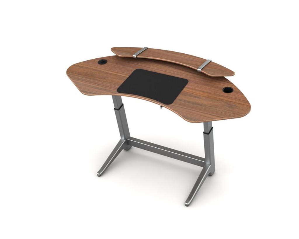 Sphere desk in black walnut with optional sphere shelf