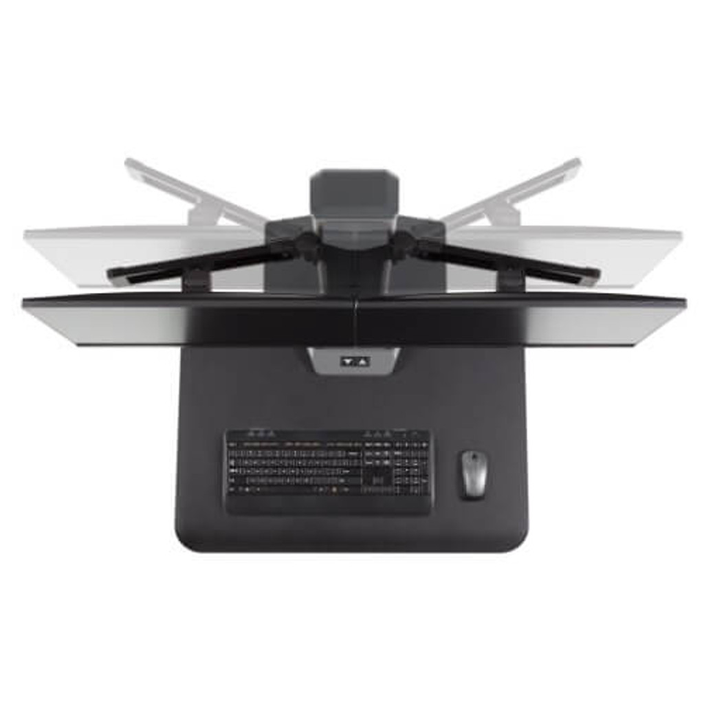 Winston-E Sit-Stand Workstation Single Monitor Mount Top view