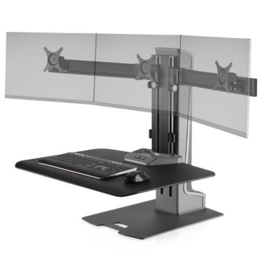 Winston-E Sit-Stand Workstation Triple Monitor Mount (WNSTE-3)
