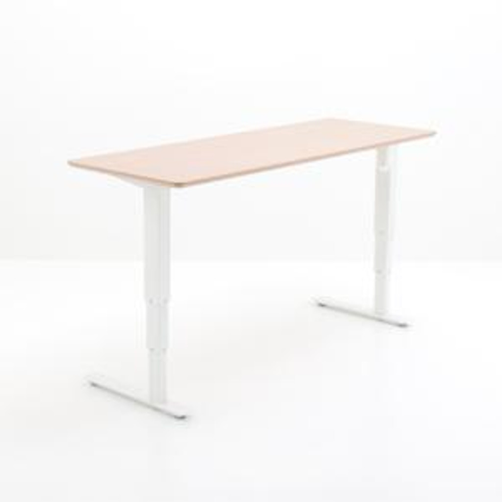 501-37 Electric Height Adjustable 2-Leg Desk White