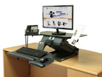 HealthPostures TaskMate Executive 6100 Set-Up on a Desk