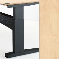 501-11 Electric Height Adjustable 2-Leg Black Frame Maple Top