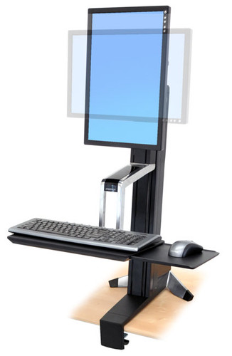 WorkFit-S, Single HD Sit-Stand Workstation