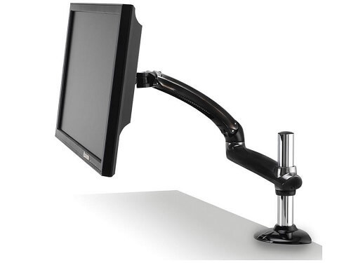 Freedom Arm PC Desk Clamp Metal Gray