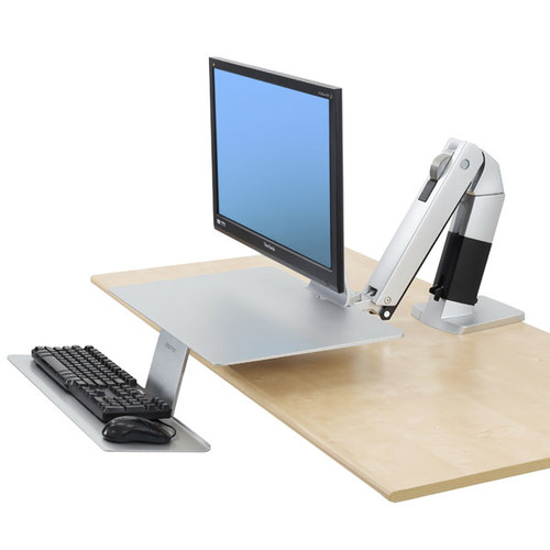 WorkFit-A with Suspended Keyboard, Platinum