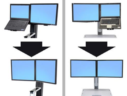 WorkFit Conversion Kit: LCD & Laptop to Dual