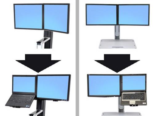 WorkFit Conversion Kit: Dual to LCD & Laptop