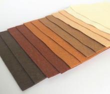 """Neutrals 9x4.5"""" 6 Shades / 12 Sheets - Wool Blend Felt"""