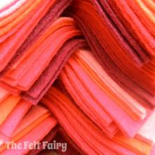"""Reds 9x4.5"""" 6 Shades / 12 Sheets - Wool Blend Felt"""