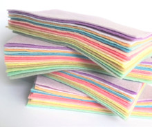Pastels 15 Shades - Wool Blend Felt Squares - Choose from 4 sizes