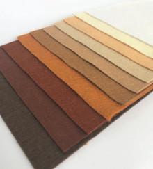 Neutrals Felt Squares - 10 Shades - Wool Blend Felt