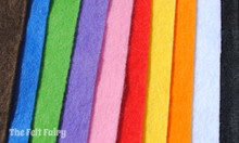 "Mini Rainbow 6"", 9"" or 12"" Squares 10 Shades - Wool Blend Felt"