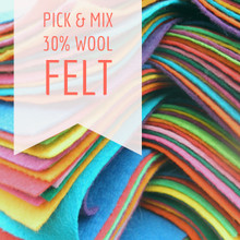 "Pick & Mix - 9"" Squares - Wool Blend Felt"