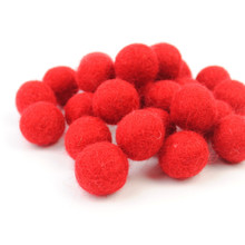 Red Felt Balls