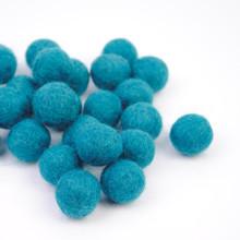 Turquoise Felt Balls
