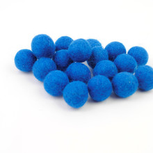 Electric Blue Felt Balls