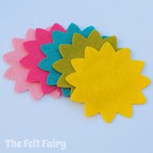 Felt Flowers - Chrysanthemum
