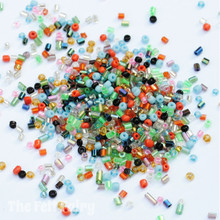 Mixed Glass Seed Beads - 20g