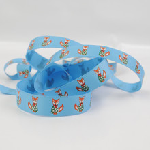 Christmas Jumper Foxes! - Turquoise Grosgrain Ribbon