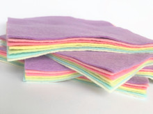 Pastels- 7 Sheets 7 Shades - Wool Blend Felt (Collection 2)
