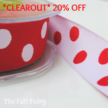 *1.7 metre* Red and White Reversible Polka Dot Ribbon