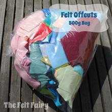 Felt Offcuts - 500g bag - Wool Blend Felt