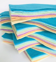 Coral Reef 10 Shades - Wool Blend Felt - 4 Sheet Sizes