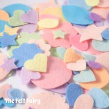 Mixed Felt Shapes - Pastels