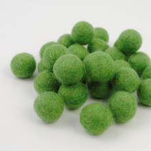 Pea Green Felt Balls