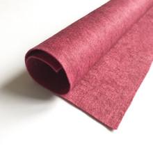 "Pomegranate - Heathered Felt - 50% Wool - 12"" Square"