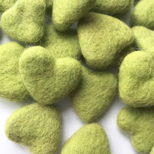 Apple Green Wool Felted Heart