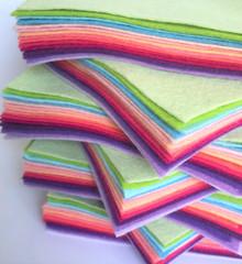 Bouquet Bundle 15 Shades - Wool Blend Felt - 4 sheet sizes