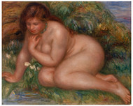 Pierre Auguste Renoir - Bather Gazing at Herself in the Water