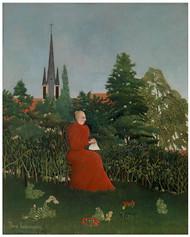 Henri Rousseau - Portrait of a Woman in a Landscape