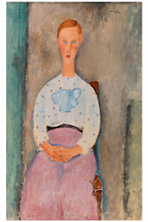 Amedeo Modigliani Print - Girl wih a Polka Dot Blouse