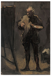 Honore Daumier - The Painter in Front of his Painting