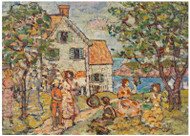 Maurice Brazil Prendergast - Beach and Two Houses