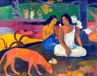 Arearea Print by Paul Gauguin